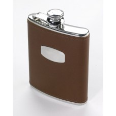 Grosvenor 6oz Leather covered Hip Flask