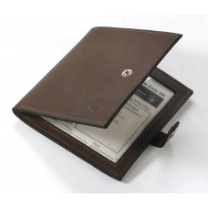 Grosvenor Leather Gun Licence Wallet - Dark Havana.