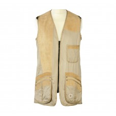 Medallist Suede Shooting Vest - Ladies STONE RH / END OF LINE CLEARANCE