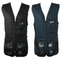 Claypro Cotton Shooting Vest - BLACK / Left Handed