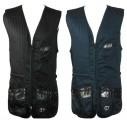 Claypro Cotton Shooting Vest - BLACK / Left Handed