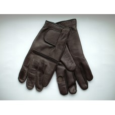 Leather Shooting Gloves in Havana Brown Colour