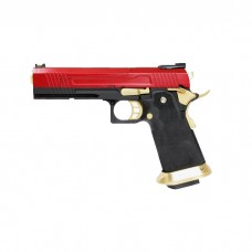 Armorer Works Custom Hi-Capa GBBP (Split Red Slide - Gold Barrel - AW-HX1004)