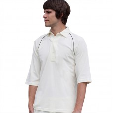 Piped cricket shirt