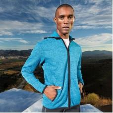 Melange knit fleece jacket