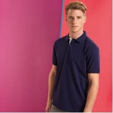 Men's classic fit contrast polo