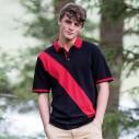 Diagonal stripe piqué polo shirt - tag-free
