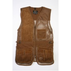 Rio Summer Shooting Vest w. Amara Suede - BLACK / LEFT HANDED